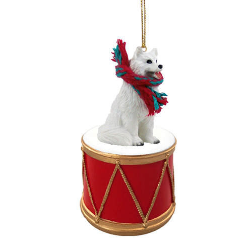 Little Drummer Samoyed Christmas Ornament
