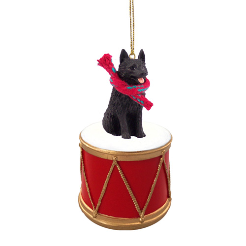 Little Drummer Schipperke Christmas Ornament