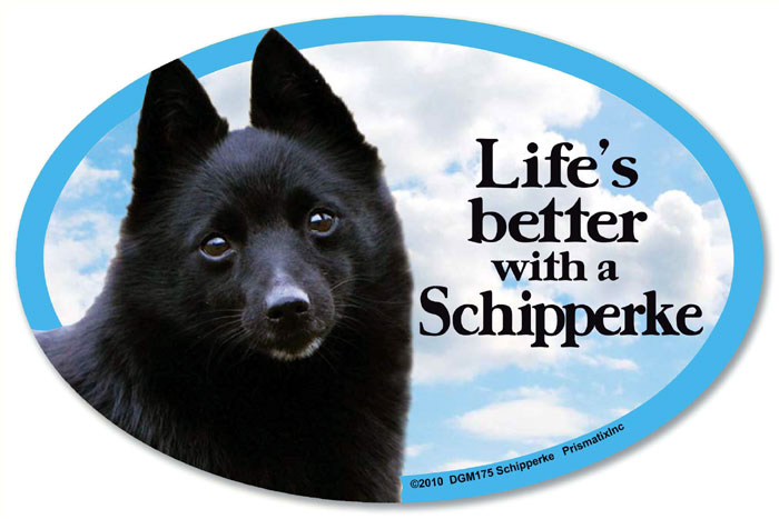 Schipperke Car Magnet - Life's Better