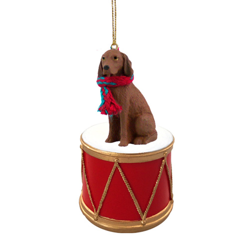 Little Drummer Vizsla Christmas Ornament