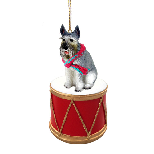 Little Drummer Schnauzer Giant Christmas Ornament