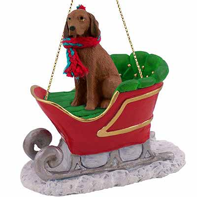 Vizsla Sleigh Ride Christmas Ornament