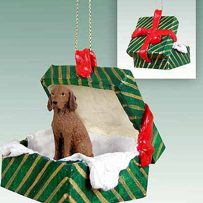 Vizsla Gift Box Christmas Ornament