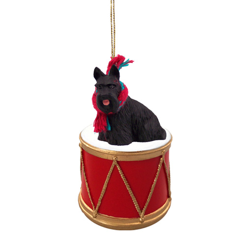 Little Drummer Scottish Terrier Christmas Ornament