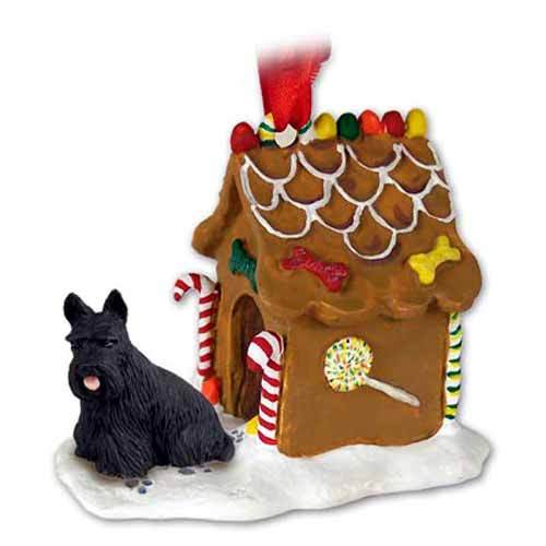 Scottish Terrier Gingerbread House Christmas Ornament