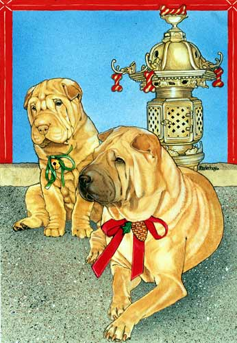 Shar Pei Christmas Cards