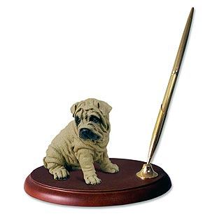Shar Pei Pen Holder (Brown)
