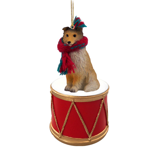 Little Drummer Shetland Sheepdog Christmas Ornament