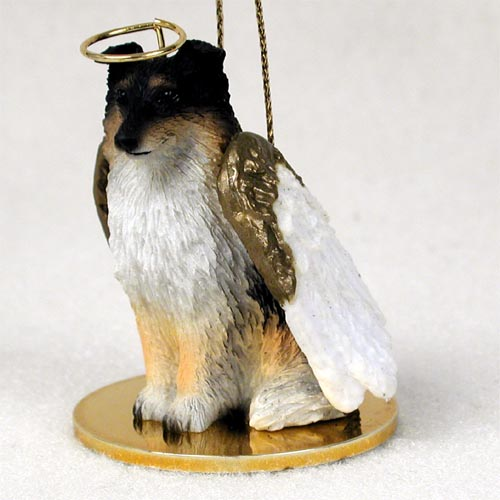 Shetland Sheepdog Angel Ornament Tricolor