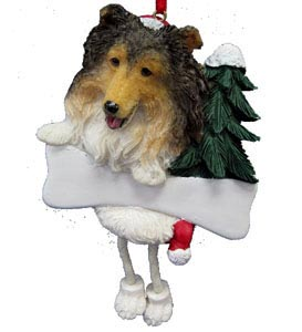 Shetland Sheepdog Christmas Tree Ornament - Personalize