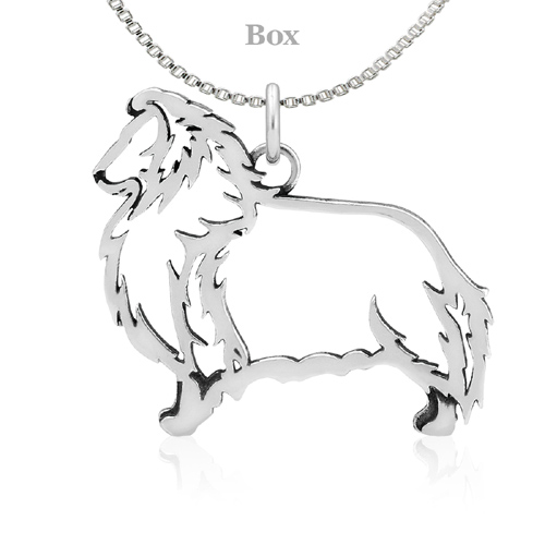 Sterling Silver Shetland Sheepdog Body Necklace