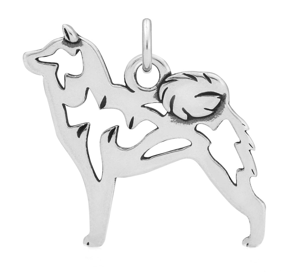 Sterling Silver Shiba Inu Body Necklace
