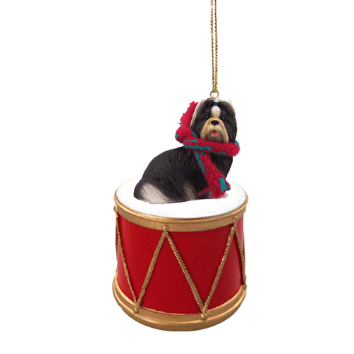 Little Drummer Shih Tzu Christmas Ornament