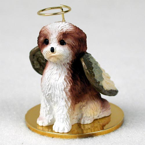 Shih Tzu Angel Ornament Tan Sport Cut
