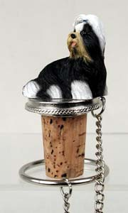 Shih Tzu Bottle Stopper (Black & White)