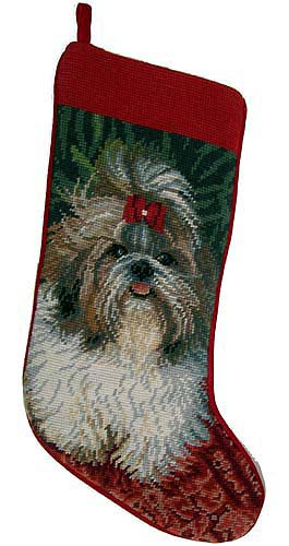 Shih Tzu Christmas Stocking