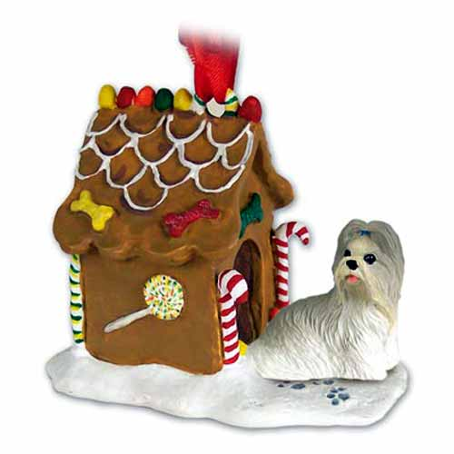 Shih Tzu Gingerbread House Christmas Ornament Mixed
