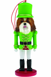 Shih Tzu Ornament Nutcracker (Tan)