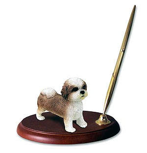 Shih Tzu Pen Holder (Tan Sport cut)