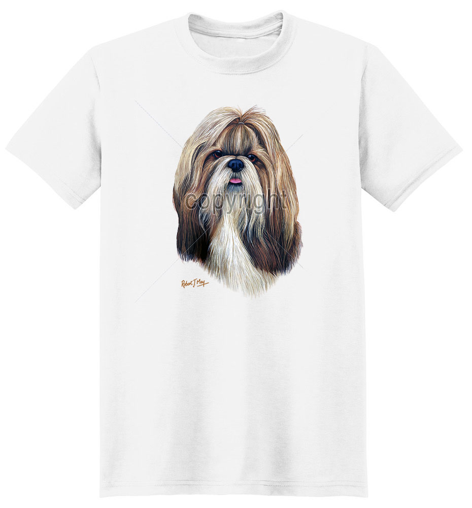 Shih Tzu T Shirt by Robert May