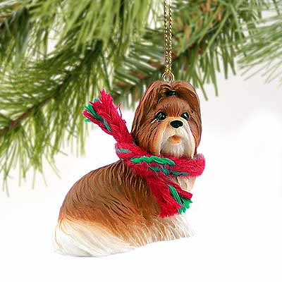 Shih Tzu Tiny One Christmas Ornament Tan