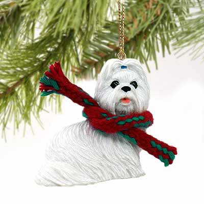 Shih Tzu Tiny One Christmas Ornament White