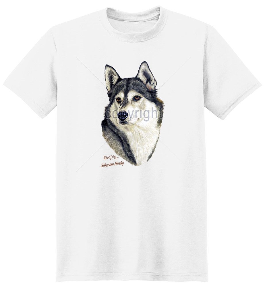 Husky T Shirt by Robert May