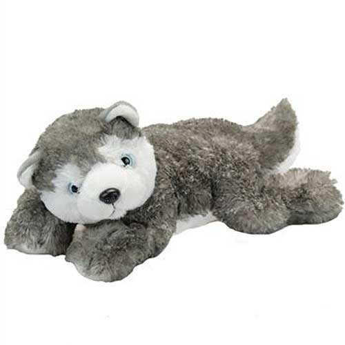 Laydown Siberian Husky Plush Stuffed Animal 15