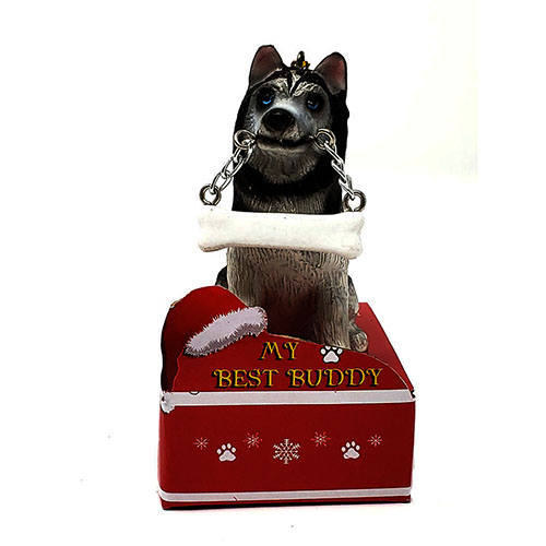 My Best Buddy Siberian Husky Christmas Ornament