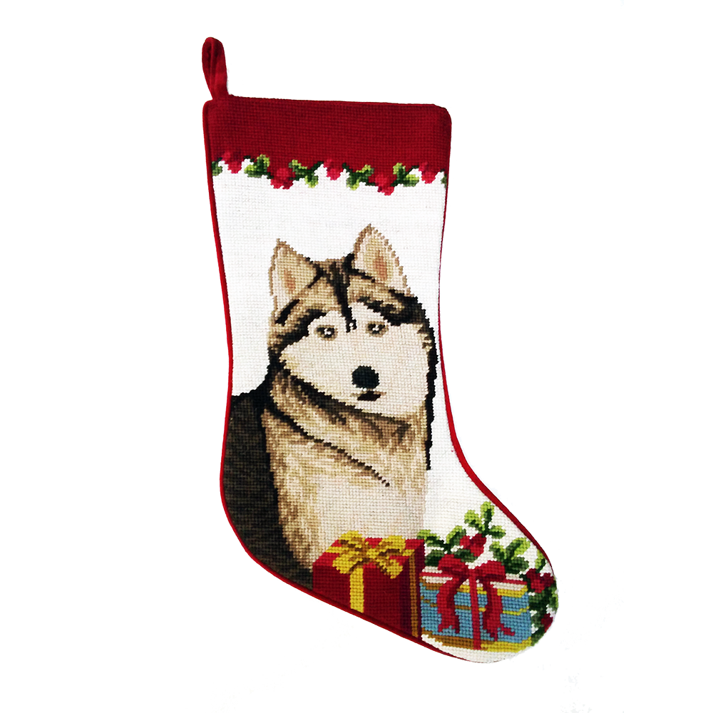 Siberian Husky Christmas Stocking