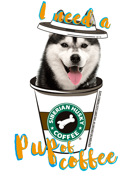 Siberian Husky T Shirt - Coffee Mug