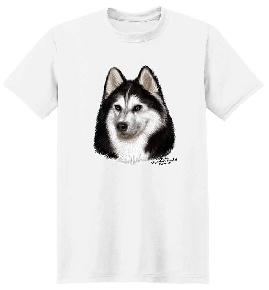 Siberian Husky T Shirt - Proud Parent