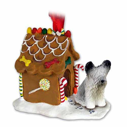 Skye Terrier Gingerbread House Christmas Ornament
