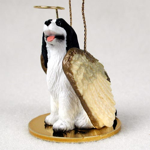 Springer Spaniel Angel Ornament Black-White