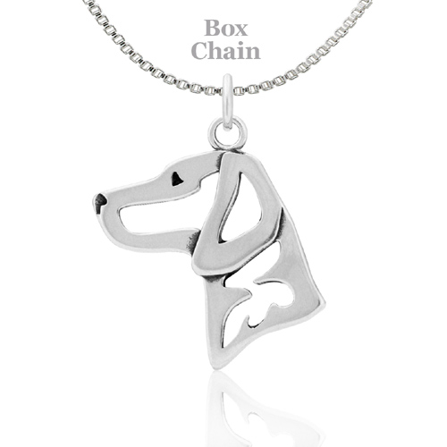 Sterling Silver Vizsla Necklace