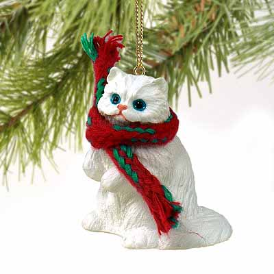 Persian Cat Tiny One Christmas Ornament