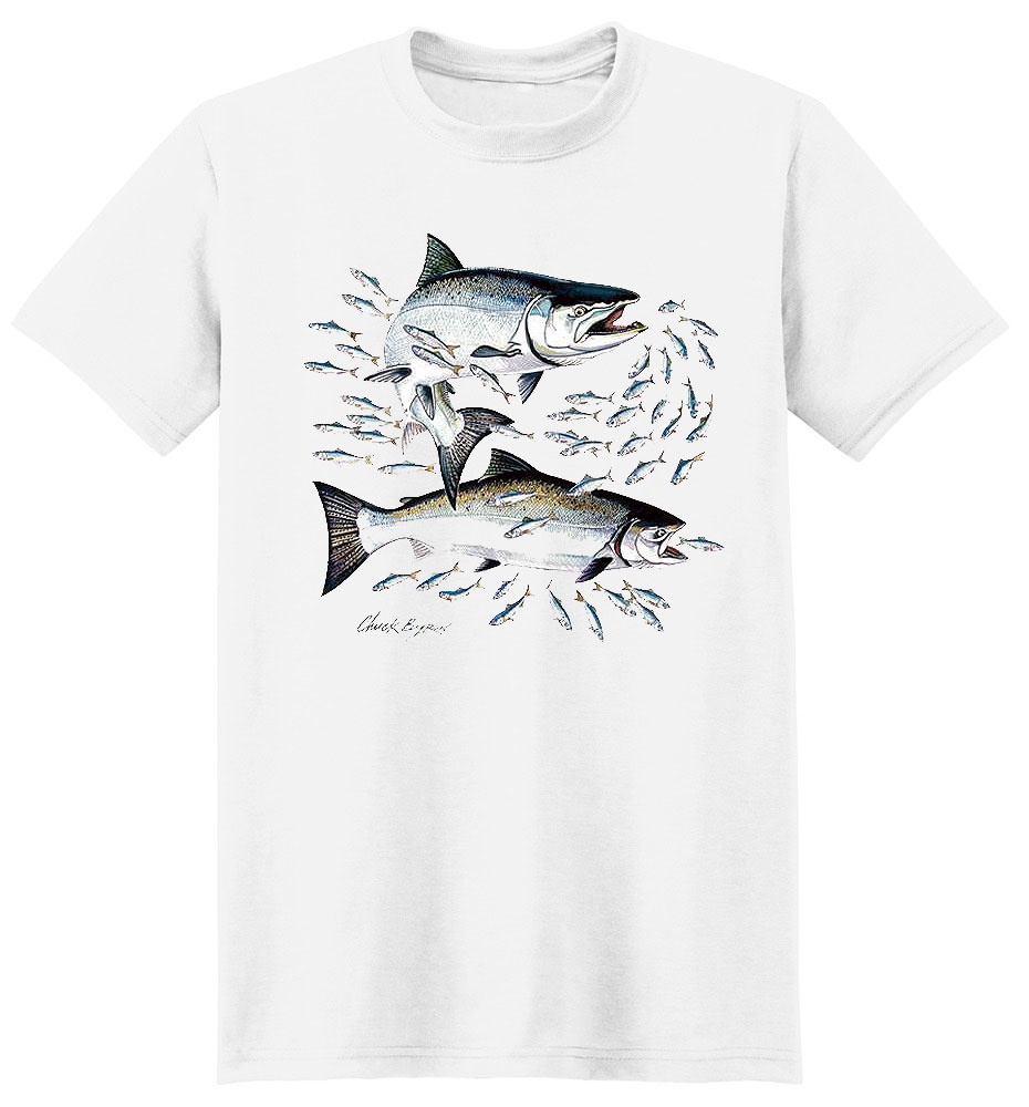 Salmon T Shirt Salmon With Crest