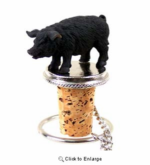 Pig Bottle Stopper (Black)