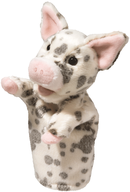 Pig Puppet 12� Stuffed Plush Animal