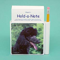 Black Poodle Hold-a-Note
