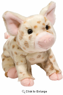 "Pig Plush Stuffed Animal ""Mud Pie"" 10"""