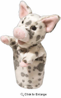"Pig Puppet 12"" Stuffed Plush Animal"