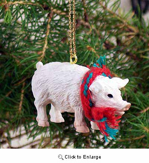 Pig Tiny One Christmas Ornament Pink