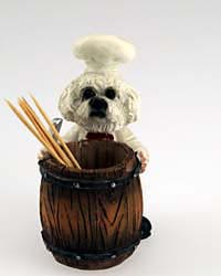Bichon Frise Toothpick Holder
