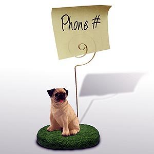 Pug Note Holder (Fawn)