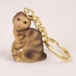 Scottish Fold Cat Keychain