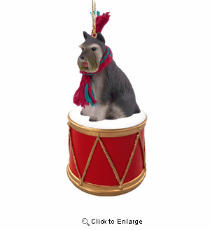 Little Drummer Schnauzer Christmas Ornament