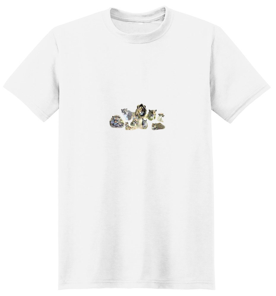 Bobcat T-Shirt - With other Wild Cats