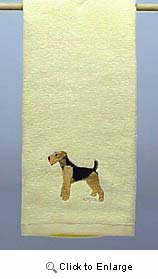 Airedale Terrier Hand Towel