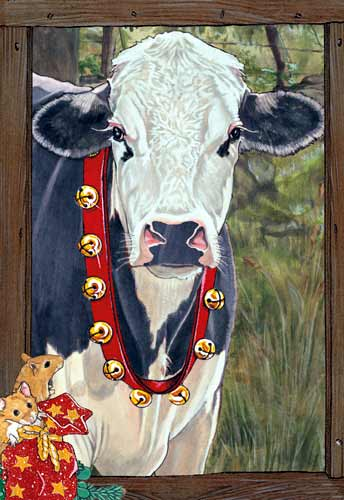 Holstein Cow Christmas Cards